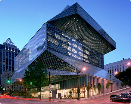_BigImg_Seattle Public Library 4thandMadisonDusk